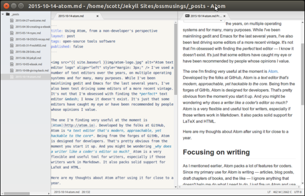 Atom's Markdown preview