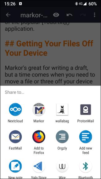 Sharing a Markor file