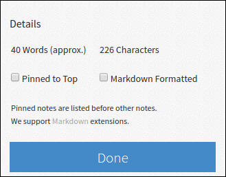 Enabling Markdown in Simplenote